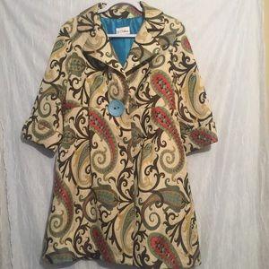 3 sisters Gorgeous print long jacket large